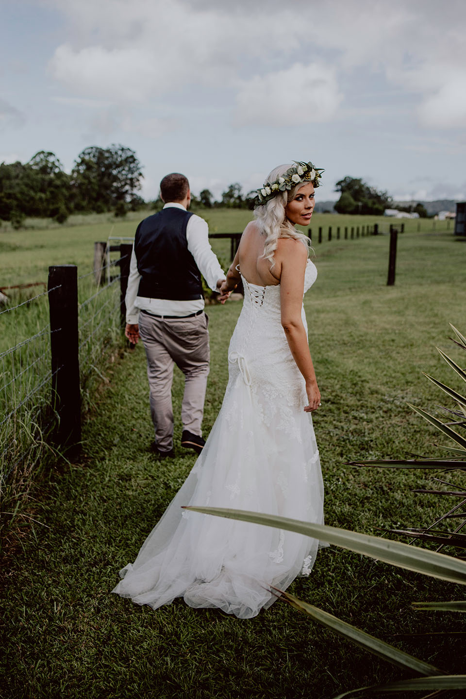 Bride and groom walking, wedding photography, Alice Payne photography
