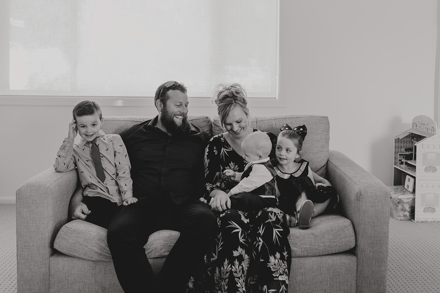 Family photography, at home session,  b&w, Urunga nsw, Alice Payne photography