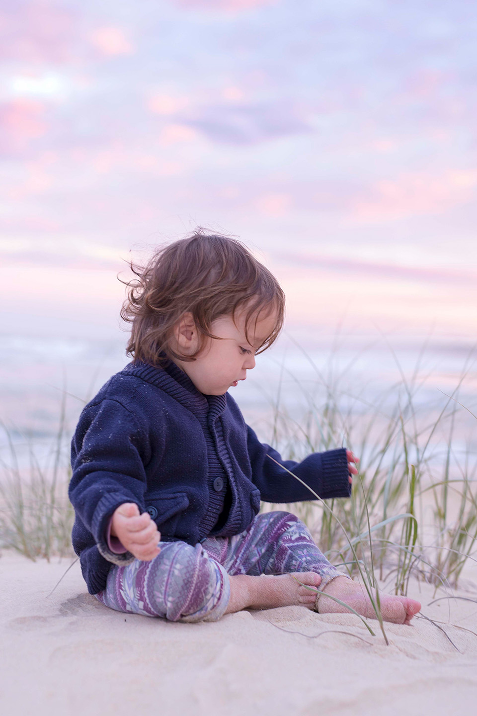 Little girl, beach, sunset, nature, family photography, children photography, Alice Payne photography, mid north coast photographer